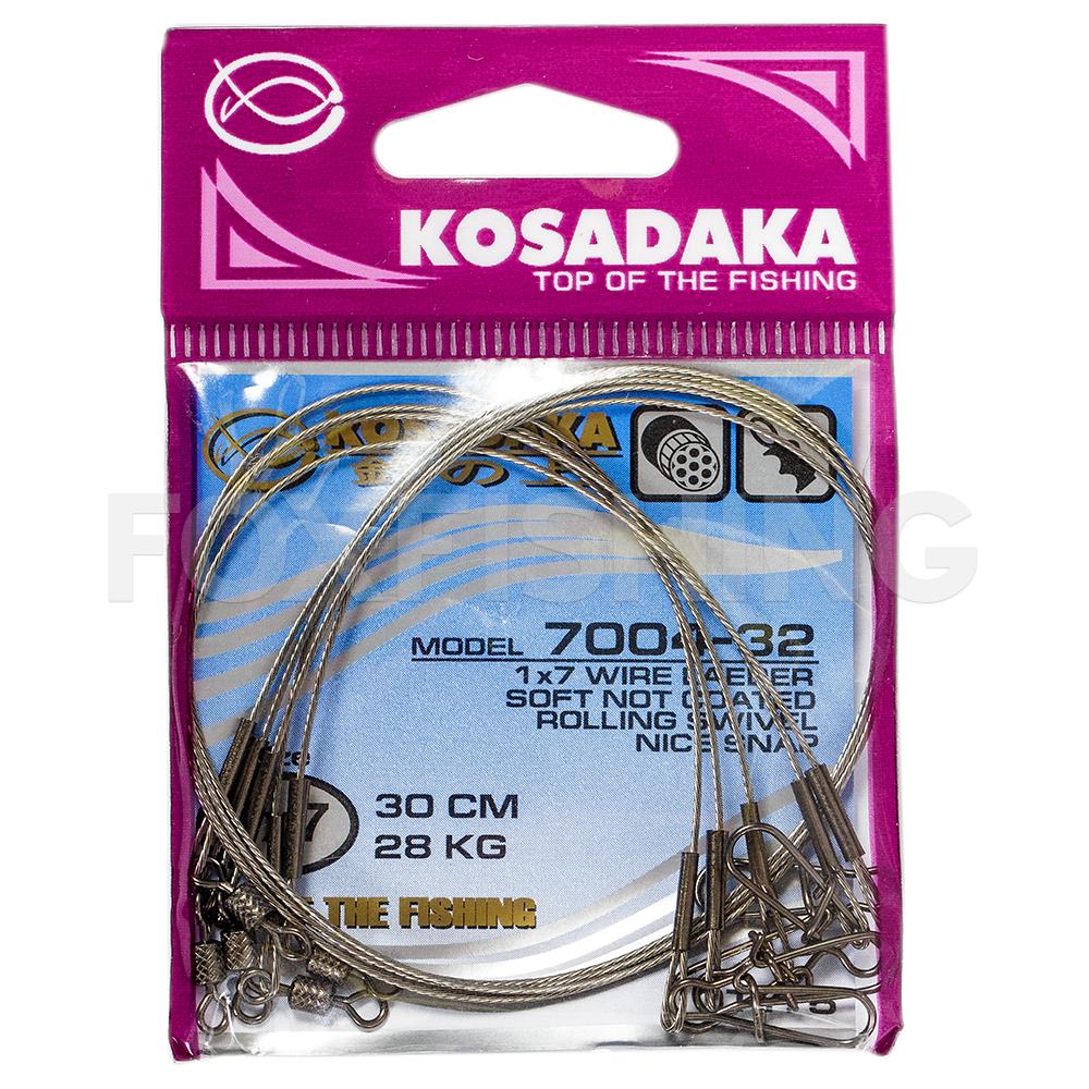 Поводки KOSADAKA CLASSIC NEW 1X7 15см. 10кг. фото №1
