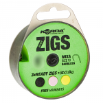 Волосяная оснастка KORDA Ready Zigs on spool 12 Barbless size 10