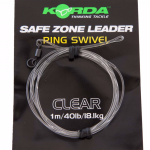 Карповый монтаж KORDA Safe Zone Kamo Leader Ring Swivel Clear KSZ39
