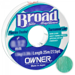 Леска Owner Broad 25м. 0.20мм. MIST GREEN