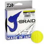Плетеный шнур Daiwa J-braid X4 135м. 0.10мм. YELLOW