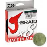 Плетеный шнур DAIWA J-BRAID X8 300м. 0.20мм. DARK GREEN