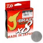 Плетеный шнур DAIWA J-BRAID GRAND X8 135м. 0.06мм. GRAY LIGHT
