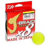 Плетеный шнур Daiwa J-braid Grand X8 135м. 0.18мм. YELLOW