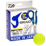 Плетеный шнур Daiwa J-Braid X4E W/SC 135м. 0.13мм. YELLOW