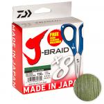 Плетеный шнур Daiwa J-Braid X8E W/SC 150м. 0.06мм. GREEN