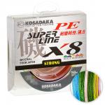 Плетеный шнур KOSADAKA SUPER PE X8 150м. 0.14мм. MULTICOLOR