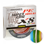 Плетеный шнур Kosadaka Super Pe X8 150м. 0.30мм. MULTICOLOR