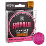 Плетеный шнур Rapala Rapinova-x MULTI GAME 100м. 0.4PE PINK