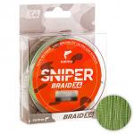Плетеный шнур SALMO SNIPER BRAID 120м. 0.232мм. ARMY GREEN