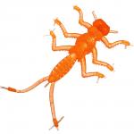 Силиконовая приманка Microkiller Веснянка 35мм. Оранжевый Флюо