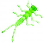 Силиконовая приманка Microkiller Веснянка 35мм. Зеленый Флюо