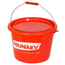Ведро Dunaev Art. Красное с крышкой 18л.