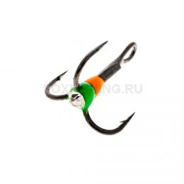 Крючки OOSHIMA HOOKS №8 оранжевый-зеленый со стразой