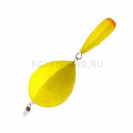Поплавок Saturn Зимний Двухсоставной №2 жёлтый