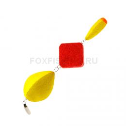 Поплавок Saturn Зимний Трёхсоставной №4 жёлтый