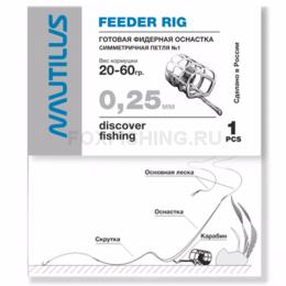 Фидерная оснастка NAUTILUS Симметричная петля №2 d-0.30мм