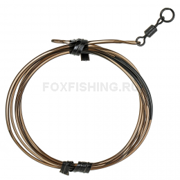Карповый монтаж KORDA Safezone Leader Ring Swivel 40lb Silt KSZ33