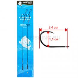 Волосяная оснастка Nautilus Fluorocore Combi Rig 14 см 20 lb #2