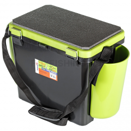 Ящик Helios Fishbox зеленый односекционный 19л