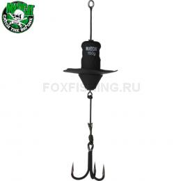 Приманка MADCAT A-STATIC SILENT TEASER Treble Hook 100gr - BLACK