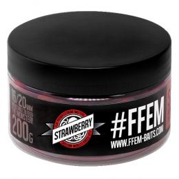Бойлы Ffem Super Soluble Boilies Hookbaits 16/20mm Strawberry