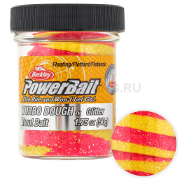 Форелевая паста BERKLEY PowerBait SELECT GLITTER TURBO DOUGH PINK LEMONADE