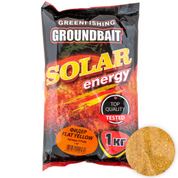 Прикормка GREENFISHING Solar Energy Фидер Flat Yellow 1кг