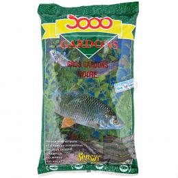 Прикормка SENSAS 3000 GROS GARDONS Noir 1кг