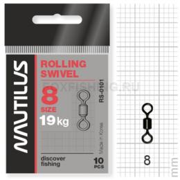 Вертлюжки Nautilus Rolling Swivel 0101 №8