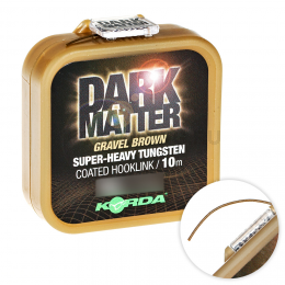 Поводковый материал KORDA DARK MATTER TUNGSTEN COATED BRAID GRAVEL BROWN 25lb