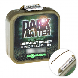 Поводковый материал KORDA DARK MATTER TUNGSTEN COATED BRAID WEED GREEN 18lb