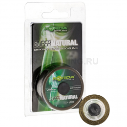 Поводковый материал KORDA Super natural Weed Green 25lb KSNG25