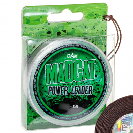 Лидер MADCAT POWER LEADER 15м. 1.30мм. BROWN