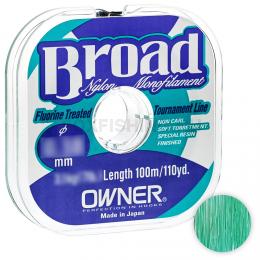 Леска Owner Broad 100м. 0.06мм. MIST GREEN