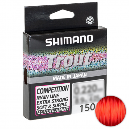 Леска Shimano Trout Competition 150м. 0.22мм Red