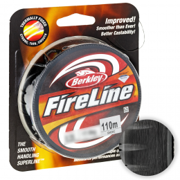 Плетеный шнур Berkley Fireline 110м. 0.12мм. SMOKE