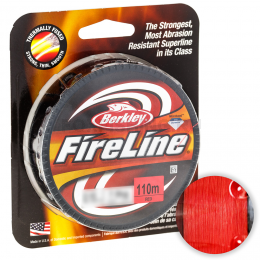 Плетеный шнур Berkley Fireline Red 110м. 0.10мм. RED