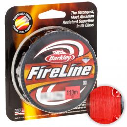 Плетеный шнур Berkley Fireline Red 110м. 0.12мм. RED