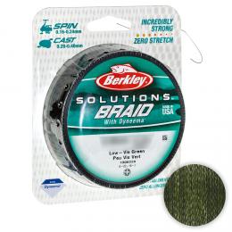 Плетеный шнур Berkley Solutions 125м. 0.18мм. LOW-VIS GREEN