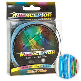 Плетеный шнур Black Hole Interceptor 150м. 0.6PE  MULTICOLOR