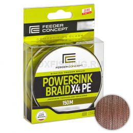 Плетеный шнур FEEDER CONCEPT POWERSINK Dark Brown 150/017