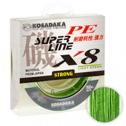 Плетеный шнур KOSADAKA SUPER PE X8 150м. 0.12мм. LIGHT GREEN