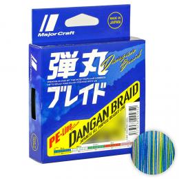Плетеный шнур Major Craft Dangan Braid X8 200м. 0.6PE MULTICOLOR