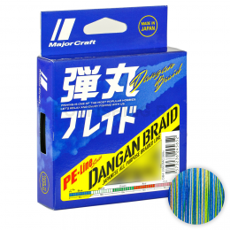 Плетеный шнур Major Craft Dangan Braid X8 200м. 0.8PE MULTICOLOR