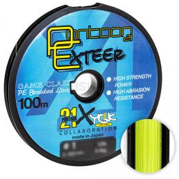 Плетеный шнур Pontoon 21 Exteer X4 100м. 0.205мм. YELLOW