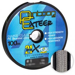 Плетеный шнур Pontoon 21 Exteer X4 100м. 0.205мм. GRAY