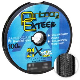 Плетеный шнур Pontoon 21 Exteer X4 100м. 0.235мм. BLACK