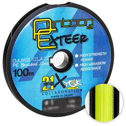 Плетеный шнур Pontoon 21 Exteer X4 100м. 0.285мм. YELLOW