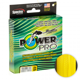 Плетеный шнур Power Pro Hi-vis Yellow 135м. 0.13мм.